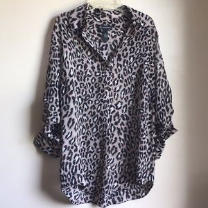 I-N-C Cheetah Blouse